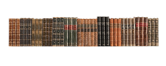 SCOTT (WALTER) Waverley, 3 vol., 1814; Ivanhoe; A Romance, 3 vol., 1820; Rob Roy, 3 vol., 1818; The Monastery, 3 vol., 1820; The Monastery, 3 vol., 1820; The Abbot, 3 vol., 1820; Kenilworth; A Romance, 3 vol., 1821; The Pirate, 3 vol., 1822; The Fortunes of Nigel, 3 vol., 1822; Redgauntlet, 3 vol., 1824; Tales of the Crusaders, 4 vol., 1825; Woodstock, 3 vol., 1826, Edinburgh, Archibald Constable; Chronicles of the Canongate, Second Series, 3 vol., Edinburgh, Cadell, 1828, ALL FIRST EDITIONS (40)