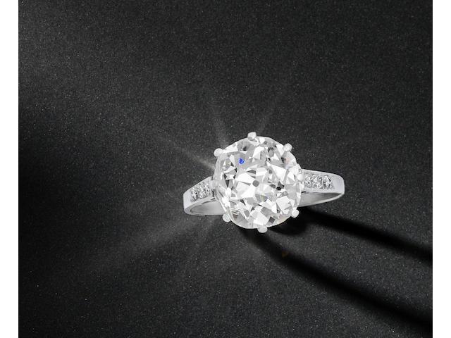 An early 20th century diamond single-stone ring
