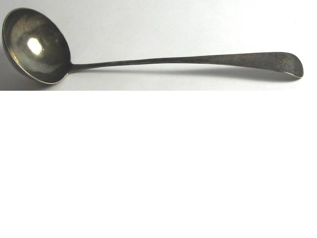 A silver ladle  by James Erskine of Aberdeen 1792