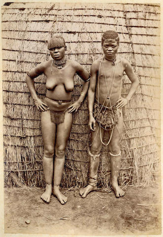 SOUTH AFRICA An album of approximately 100 topographical views and ethnographic portraits, [c.1885-1890]