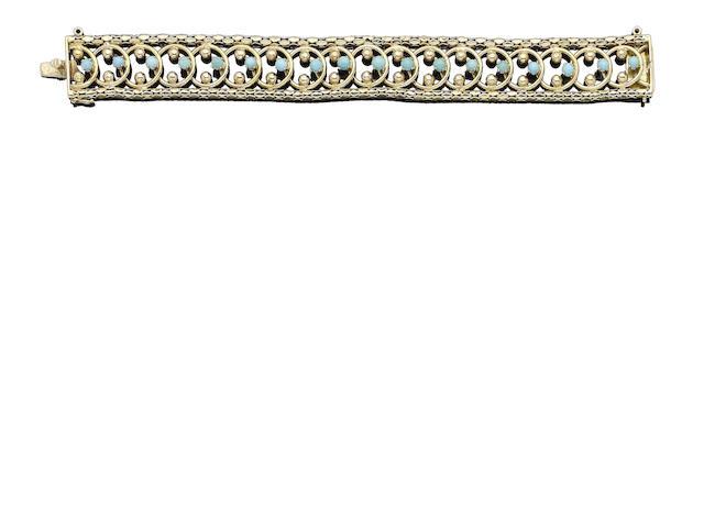 A turquoise fancy-link bracelet