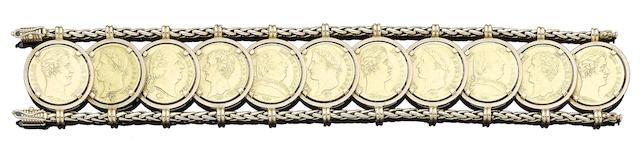 A coin bracelet, by Mellerio dits Meller