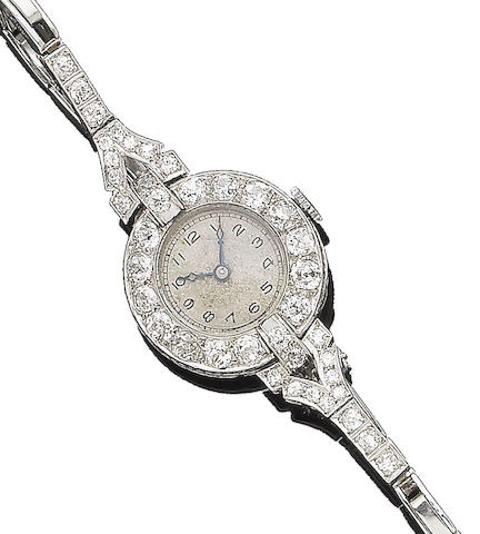 A diamond cocktail wristwatch,