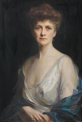 Philip de László (Hungarian, 1869-1937) Portrait of Mrs John W. Davis, née Ellen G. Bassel