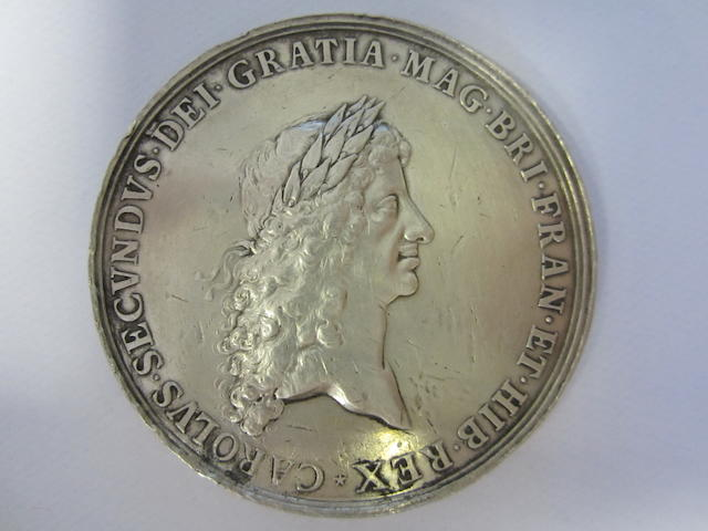 Peace with Holland 1667, Peace with Holland 1667, AR, Bust right laureate, CAROLVS.SECVNDVS. D.G.MAG.BRI.FRAN.ET.HIB.REX.