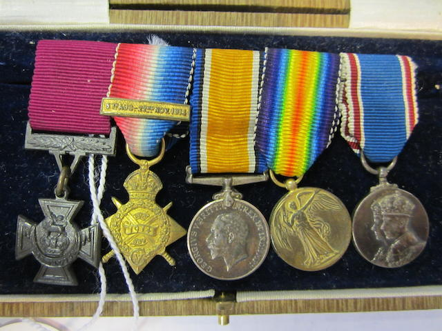 Miniature Medals: The V.C. group of five to Corporal H.May, Cameronians,