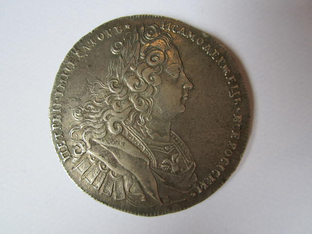 Russia, Rouble, 1727, laureate bust right,