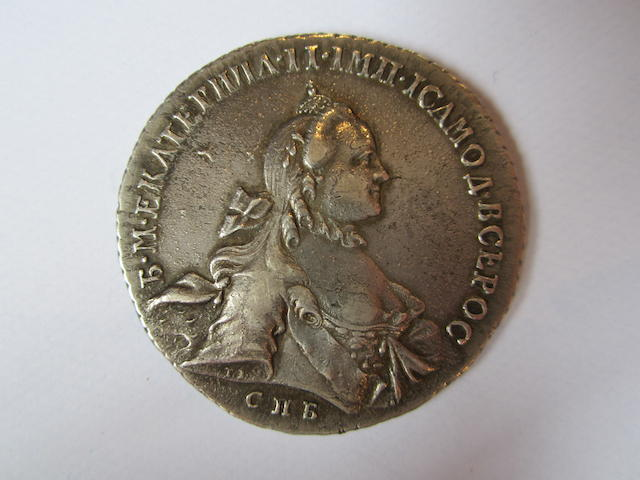 Russia, Rouble, 1762, crowned bust right,