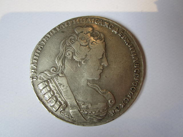Russia, Rouble, 1733, bust right,