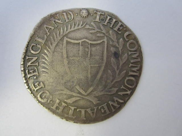 Commonwealth (1649-60), Shilling, 1656, shield of St.George within a wreath,