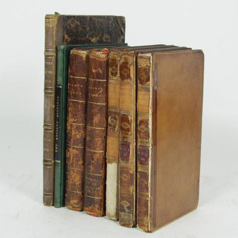 MAULE (HENRY)Miscellanea Pictica, 1818--MONCRIEFF (THOMAS) Memoirs Concerning the Ancient Alliance Between the French and Scots, 1819--[ANNE (GRANT)] Letters From the Mountains, 3 vol., 1813; Memoirs of an American Lady, 2 vol., 1808 (7)