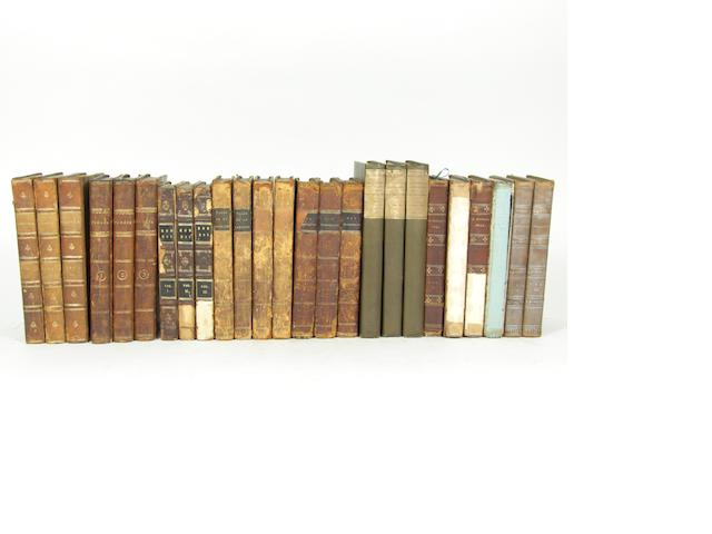 SCOTT (WALTER) Guy Mannering, 3 vol., 1815; The Antiquary, 3 vol., 1816; Tales of My Landlord, Second Series, 4 vol., 1818; Tales of My Landlord, Third Series, 4 vol., 1819; Rob Roy, 3 vol., 1818; Ivanhoe, 3 vol., 1820; Kenilworth, 3 vol., 1821; The Pirate, 3 vol., 1822; Peveril of the Peak, 4 vol., 1822; The Fortunes of Nigel, 3 vol., 1822; St Ronan's Well, 3 vol., 1824; Reddgaunlet, 3 vol., 1824; another set; Woodstock, 3 vol., 1826; another set; Edinburgh, Archibald Constable; The Chronicles of the Canongate, 2 vol., Edinburgh, Cadell, 1827, ALL FIRST EDITIONS (34)