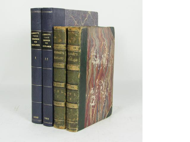 STODDART (JOHN) Remarks on Local Scenery and Manners in Scotland, 2 vol., 1801--GARNETT (THOMAS) Observations on a Tour Through the Highlands and Part of the Western Isles of Scoland, 2 vol., 1800 (4)