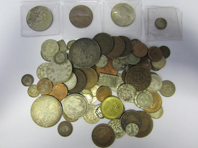 China, a collection of late 19th and early 20th Century issues including coins from Kirin Province, Hu-Peh Province, Kang Nan Province. With some minor Japanese and other Asian issues.