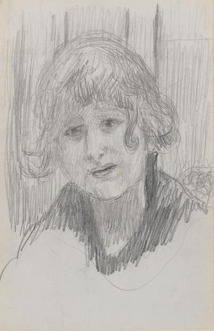 Pierre Bonnard (French, 1867-1947) Jeune femme