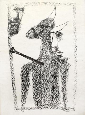 Sidney Nolan (Australian, 1917-1992) Rinder subject (PL)