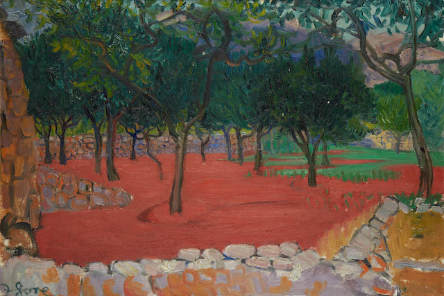 Frederick Gore CBE RA (British, 1913-2009) Orange trees, Biniaraix, Majorca