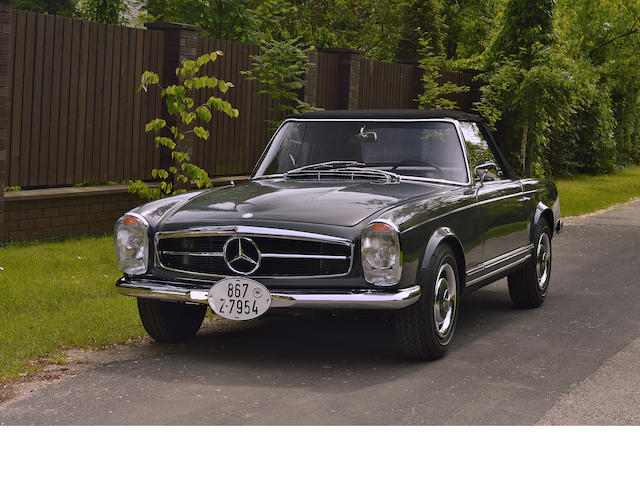 EU delivery,1966 Mercedes-Benz 230SL Convertible  Chassis no. 113042-10-016255 Engine no. 127981-10-012747