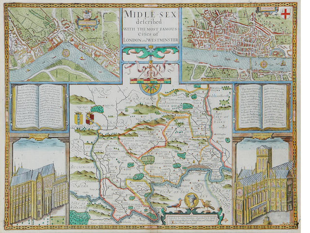 MIDDLESEX SPEED (JOHN) Midle-Sex Described with the Most Famous Cities of London and Westminster, 1676