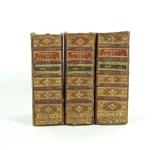[GOULART(SIMON)] Memoires de l'estat de France, sous Charles neufiesme, 3 vol., 1578