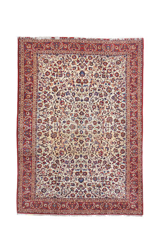 An Isfahan carpet, Central Persia, 394cm x 287cm