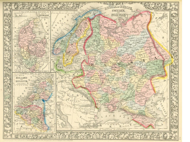 MITCHELL (SAMUEL AUGUSTUS) Mitchell's New General Atlas, containing Maps of the Various Countries of the World, Plans of Cities, Etc., 1865