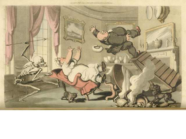 ROWLANDSON (THOMAS, illustrator) [COMBE (WILLIAM)]  The English Dance of Death, 2 vol., 1815-1816; The Dance of Life, 1817 (3)