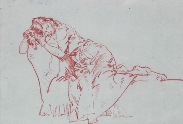 Sir William Russell Flint R.A., P.R.W.S. (British, 1880-1969) Model Reclining