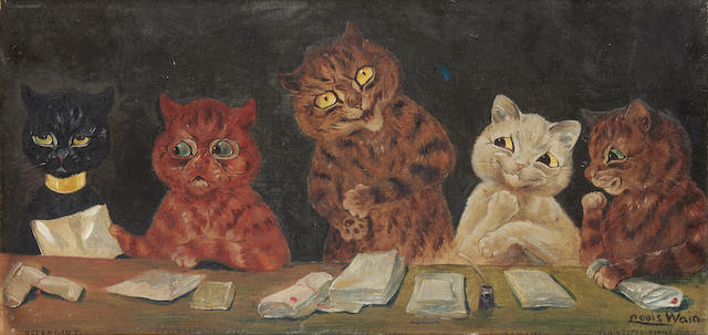 Louis William Wain (British, 1860-1939) Court Proceedings