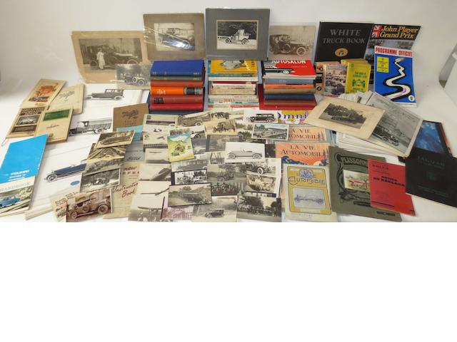 A quantity of assorted motoring literature and ephemera,
