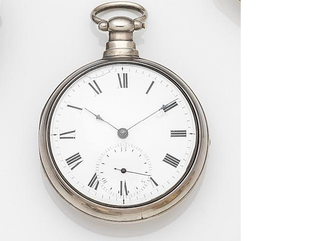 Robert Roskell, Liverpool. A silver key wind pair case pocket watchMovement No.27472, Chester Hallmark for 1800
