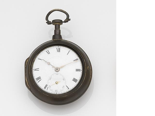 Benjamin Gray, Justin Vulliamy, London. A gilt metal key wind pair case pocket watchCirca 1750
