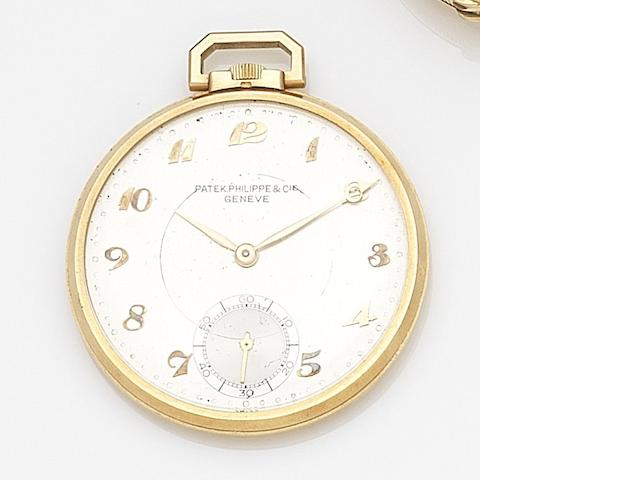 Patek Philippe. An 18ct gold keyless wind open face pocket watchCase No.419900, Movement No.89084, Circa 1895