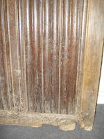 Two sections of exceptionally rare Henry VII oak linenfold panelling, circa 1500 North Devon
