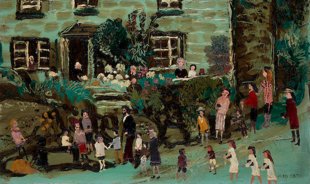 Fred Yates (British, 1922-2008) Village street