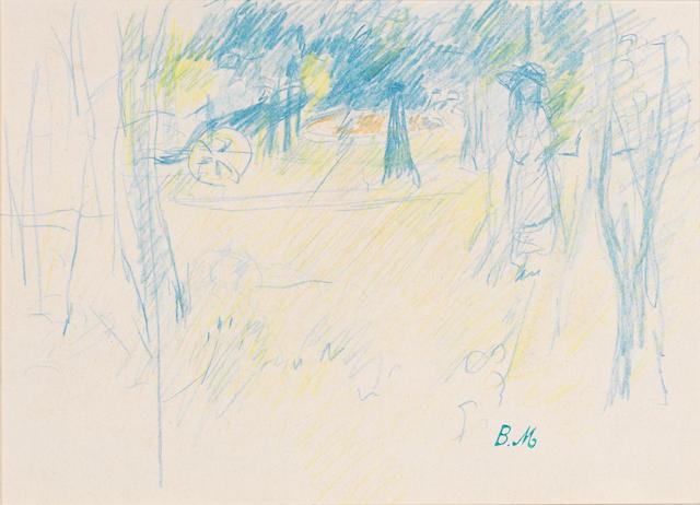 Berthe Morisot (French, 1841-1895) Julie Manet au Bois du Boulogne