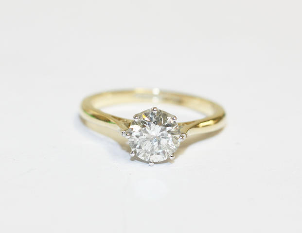 A single stone diamond ring,
