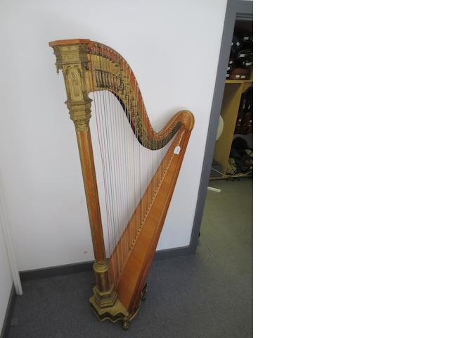 A Gothic Chromatic Concert Harp by Sebastian and Pierre Erard, London, circa 1860     (2)