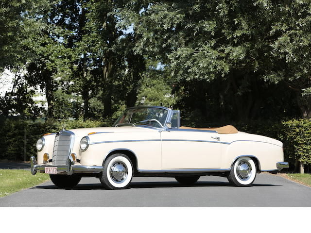 1958 Mercedes-Benz Cabriolet 220S 'Ponton'  Chassis no. 180030N8507213 Engine no. 180 924 850 42 99