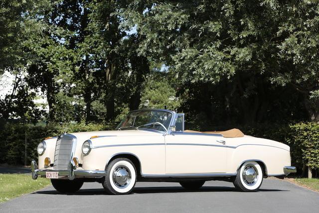 1958 Mercedes-Benz Cabriolet 220S 'Ponton'  Chassis no. 180030N8507213 Engine no. 180 924 850 42 99