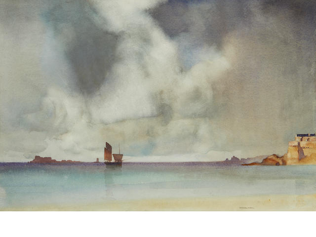 Sir William Russell Flint R.A., P.R.W.S. (British, 1880-1969) South of France