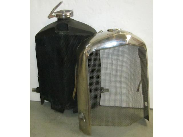 A vintage Bentley radiator from a 6½ litre car, (YF3984)