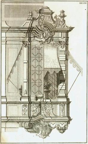 SCHÜBLER (JOHANN JACOB) Gründlicher und deutlicher Unterricht zur Versertigung der vollständigen Säulen-Ordnung, wie man sie in der heutigen Civil-Bau-Kunst zu gebrauchen pfleget, 2 parts bound in one vol., Nuremburg, c.1723