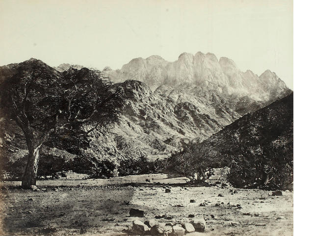 FRITH (FRANCIS)  'Mount Serbal from the Wadee Feryan', [c.1858]