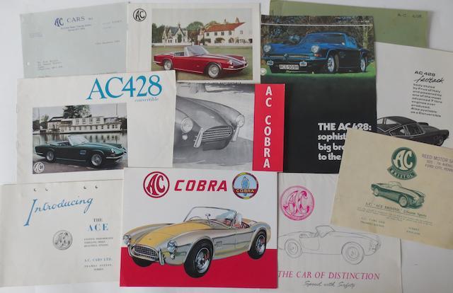 Assorted AC sales literature,