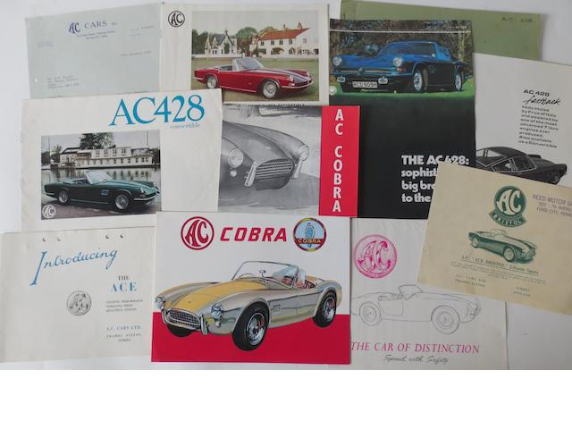 Assorted AC sales literature,