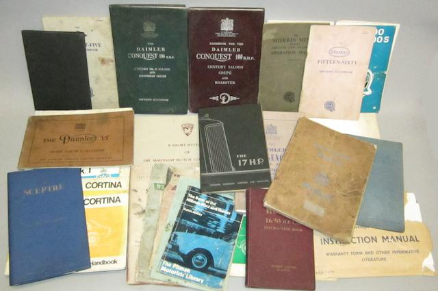 Assorted handbooks and instruction manuals,