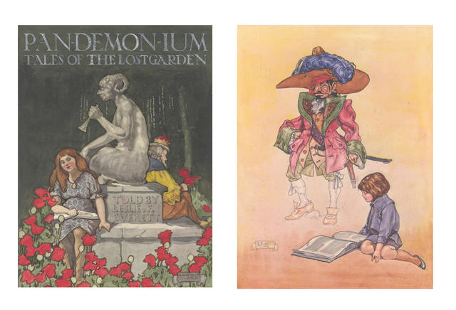 ORIGINAL ARTWORK - ARCHIVE Archive of original artwork by Leslie F. Everett, working in the style of Arthur Rackham, John Hassall, Dulac, Laurence Housman, and the classic Edwardian periodical artists
