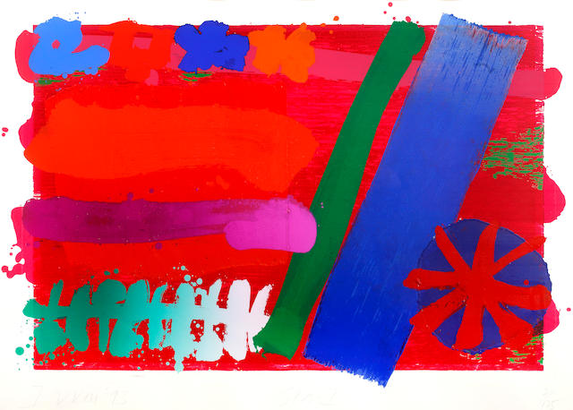 Albert Irvin RA (British, born 1922) Star I Screenprint in colours and woodblock, 1993, signed, dated, titled and numbered 2/125 in pencil, 580mm x 860mm (22 3/4in x 33 3/4in)(I)