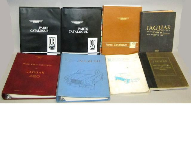 Aston Martin and Jaguar technical literature,